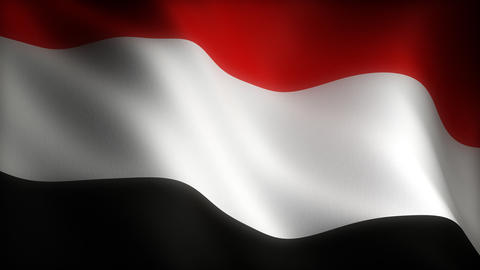 Flag of Yemen Stock Video Footage