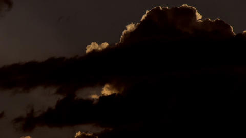 Storm after sunset HD Stock Video Footage