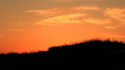 SUNSET OVER THE HILL Stock Video Footage