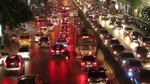 Bangkok traffic rush hour Stock Video Footage