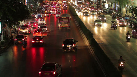 Bangkok traffic rush hour Footage