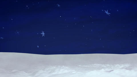 Christmas snow and sky background Animation