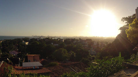 Sunset over Recife Brazil Timelapse Stock Video Footage