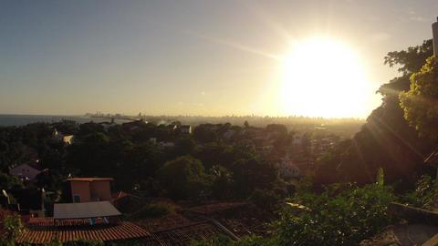 Sunset over Recife Brazil Timelapse Stock Video Footage