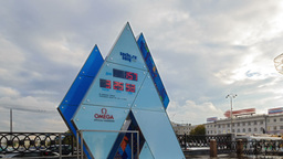 Olympic Clock Games in Sochi 2014. Time Lapse Stock Video Footage