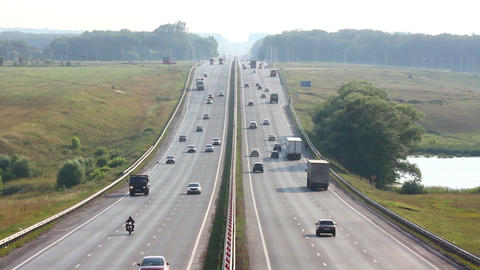 cars traveling on highway - timelapse Stock Video Footage