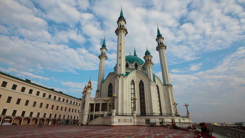 kul sharif mosque in kazan russia - timelapse Stock Video Footage