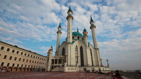 kul sharif mosque in kazan russia - timelapse Footage