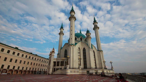kul sharif mosque in kazan russia - timelapse Stock Video Footage