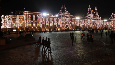 GUM shop on Red square in Moscow Stock Video Footage
