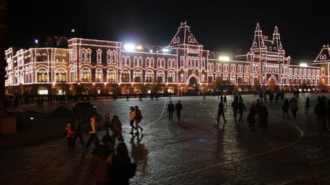 GUM shop on Red square in Moscow Footage