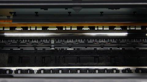 Inkjet printer color photo prints Stock Video Footage