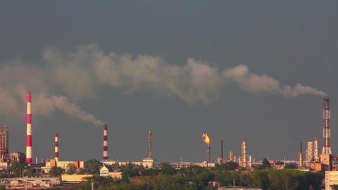 refinery plant Stock Video Footage