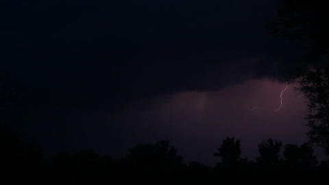 Night storm near river and great zippers Stock Video Footage