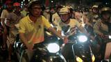 Night Traffic in Ho Chi Minh City, Vietnam Footage
