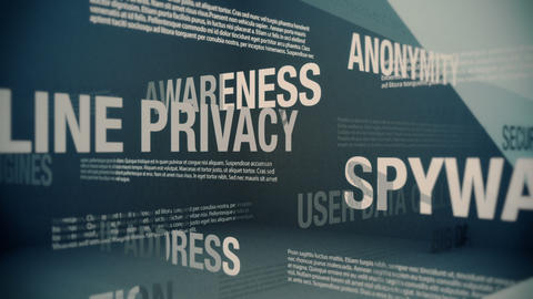Online Privacy Related Terms Animation