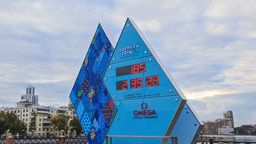 Paralympic Clock Games in Sochi 2014. Time Lapse Stock Video Footage