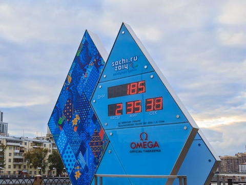 Paralympic Clock Games in Sochi 2014. Time Lapse Footage