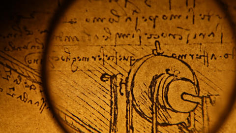 Leonardo da Vinci engineering Stock Video Footage