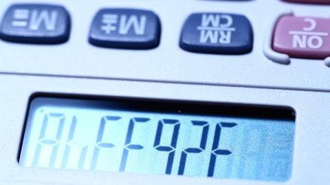 Digital Calculator Footage