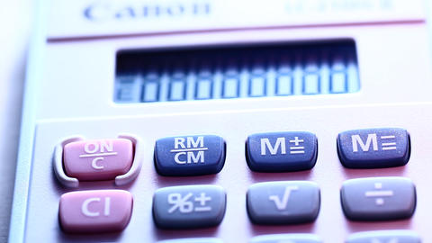 Digital Calculator Stock Video Footage