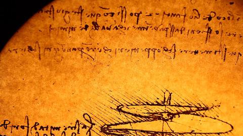 Leonardo da Vinci engineering Stock Video Footage