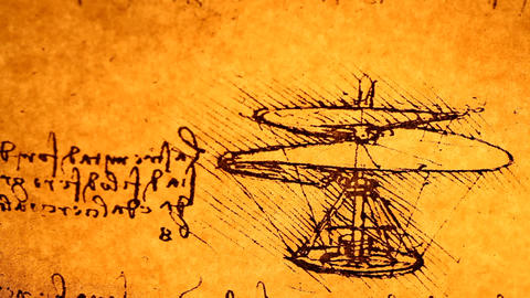 Leonardo da Vinci engineering Footage