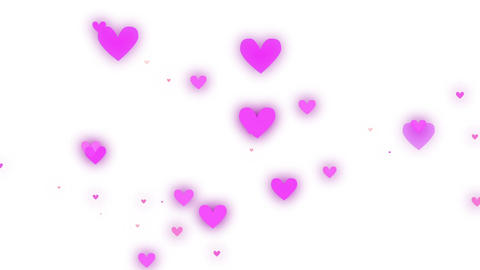 Heart Pink White Stock Video Footage