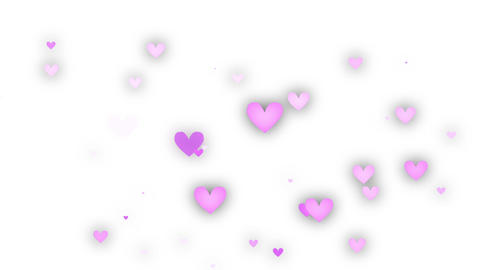 Heart Pink White 3 CG動画素材