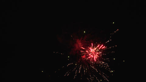 spectacular real fireworks HD against black sky Stock Video Footage