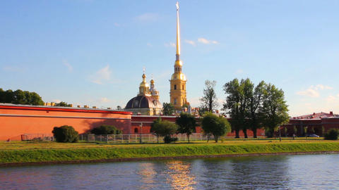 St. Peter and Paul fortress in Saint-Petersburg Ru Footage