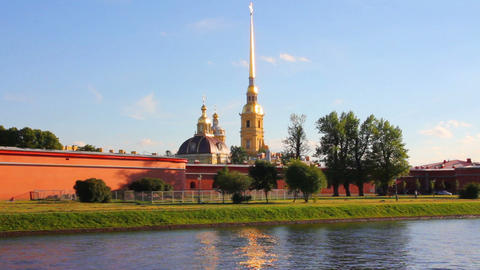 St. Peter and Paul fortress in Saint-Petersburg Ru Stock Video Footage