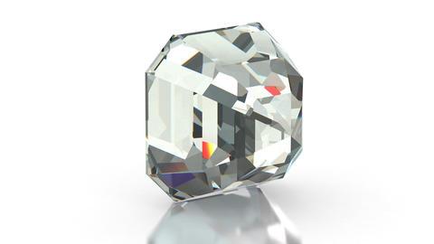 Asscher Cut Diamond Stock Video Footage