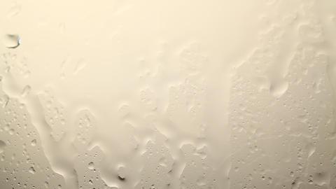 Rain drops down window Stock Video Footage