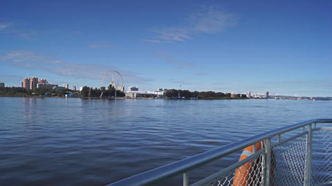 View of Heihe city from the Amur river 03 Stock Video Footage