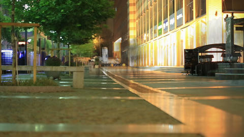 Night Walk In The City 4 Stock Video Footage