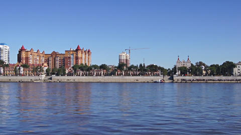 City Of Blagoveshchensk On The Amur River 02 stock footage