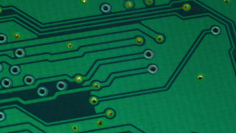 Green integrated circuit Stock Video Footage