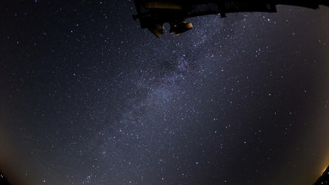 radio telescope air traffic time lapse fisheye Stock Video Footage