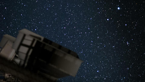 telescope and stars close time lapse Stock Video Footage