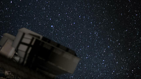 telescope and stars close time lapse Footage