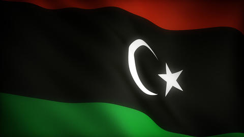 Flag of Libya Animation