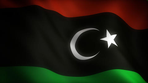 Flag of Libya Stock Video Footage