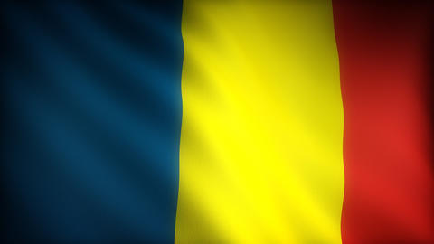 Flag of Chad Stock Video Footage