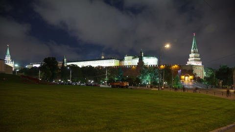 Borovitskaya place timelapse Stock Video Footage