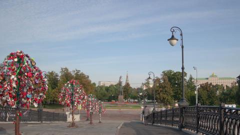 Walk Luzhkov bridge hyperlapse Footage