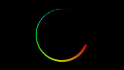 glowing rainbow particles Stock Video Footage