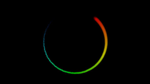 glowing rainbow particles Animation