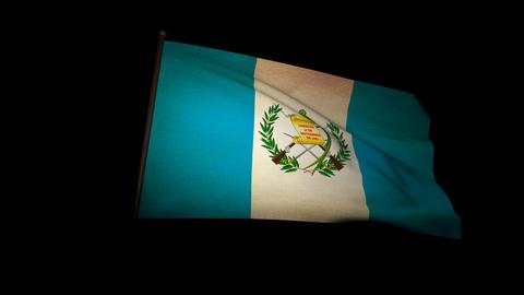 Flag Guatemala 01 Stock Video Footage