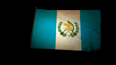 Flag Guatemala 01 Stock Video Footage